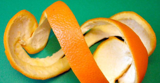 La cáscara de los cítricos en la cocina