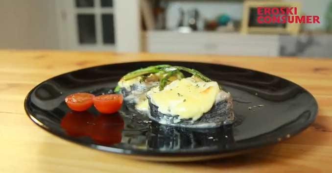 Merluza al horno con mayonesa gratinada