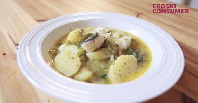 Guiso de patatas y bacalao
