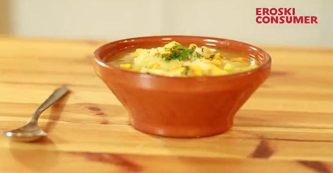 Sopa de puerros con cebolla