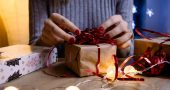 woman doing gift wrapping 1687045